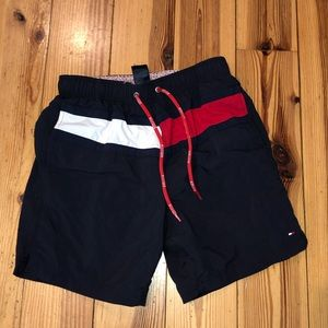 Men's Small Tommy Hilfiger Flag Swimming Trunks